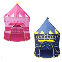 Wholesale 2 Colors Outdoor Children Play Game House Baby Beach Tents Princess Prince Kid Castle Indoor Toys Tent Christmas Gifts For Child