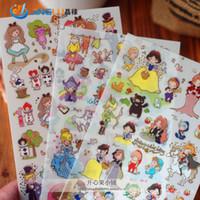 Wholesale DIY Funny Alice Snow White Felt Photo Album Envelope Seal Scrapbook PVC Sticker Phone Decoration Stamp Diary Deco