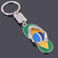 Wholesale 2016 new Novel slippers keychains keyrings key accessory Exclusive top grade highlight key ring