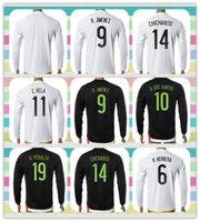 Wholesale New Product Mexico Vela M Layun A Guardado HERRERA Black White Home Long Sleeve Soccer Jersey Full Shirt Jerseys