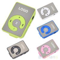 al por mayor el mini clip reproductor multimedia mp3-Mini Clip USB MP3 Music Media Player Soporte 1-8GB Micro SD TF + Auriculares + Cable 2LE9