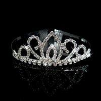 Cheap Wedding Bridal Bridesmaid Crystal Veil Tiara Crown Headband Prom Pageant HG085