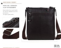Wholesale popular brand high quality natural Cowskin Genuine leather swiss briefcase men handbag shoulder bags for ipad
