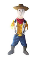 S adult woody costume - 2016 Woody Mascot Costume Happy Cowboy Halloween Party Adult Size Cartoon Fancy Dress