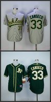 athletics world - Jose Canseco Jersey World Series Patch Home Green Oakland Athletics Cool Base Uniforms