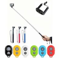 Wholesale Retail Monopod Clip Holder Bluetooth Camera Shutter Self timer Remote Control Handheld for iPhone Samsung Android