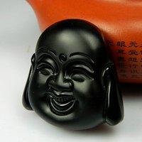 Wholesale Christmas gift natural obsidian pendant pendant Buddha pendant Collectibles