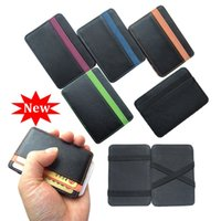 Wholesale New arrival High quality PU leather magic wallets fashion designer men money clip retail and Model FGS01