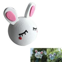 Wholesale Latest Hot Sale Cute Lovely White Rabbit Antenna Topper For Car Decoration Car Aerials