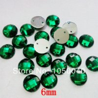 Wholesale 6mm Mixed Color Flat Back Round Sew On Rhinestones Jewels High Quality Pro Grade Jewelry Findings Jewelry DIY Pieces M13346
