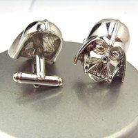 Wholesale 2014 New Arrival Star War Sign Darth Vader Cufflinks Men Jewelry Movie Jewelry Pair Statement Jewelry