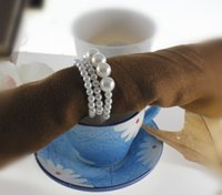 Cheap Bamboo napkin rings Best ECO Friendly imitation pearl rings wedding