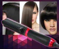 Wholesale 10pcs KD Hair Straightener Hair Straighten Comb Tourmaline Ceramic Iron Kingdom Brand Hair Styling Tool Brush Flat Iron
