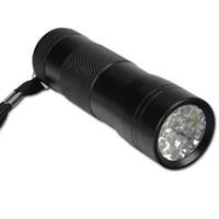 Cheap 12 LED 395nM UV Ultra Violet Flashlight Blacklight Light Torch Lamp