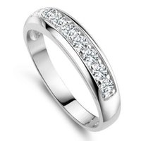 african suppliers - 2016 Band Rings Gift New Arrival luxury Austria Crystal Silver Ring Sterling Silver Layer Platinum Plated Ring Supplier Or24