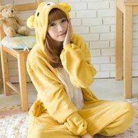 bear suit pajamas - Hot Bear Animal Costume Kigurumi Pajamas Cosplay Halloween Suits Adult Romper Cartoon Jumpsuits Unisex Animal Sleepwear
