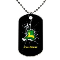 Wholesale John Deere Camo Tractor Pattern Customized Colorful Design Dog Tag Necklace Aluminum Tag for Animal Pets Tag u46555