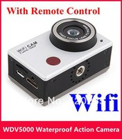 Wholesale WDV5000 Extreme Sports DV HD P Full HD Waterproof camera Underwater Action Sport CAM with WiFi IR Controller DHL