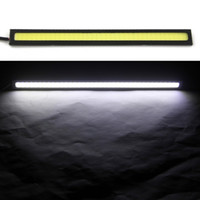 Wholesale 1pcs cm V Ultra thin COB Chip LED Car Auto DRL Daytime Driving Running Fog Light Lamp