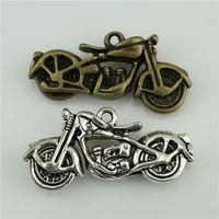 Wholesale 30pcs mm colors antique bronze antique silver tone zinc alloy d Motorcycle charm