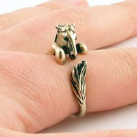 animal wrap rings - Hot Cake ONE PIECE Statement Bronco Horse Animal Wrap ring Bronze Silver cute ring Fashion rings jewelry for women
