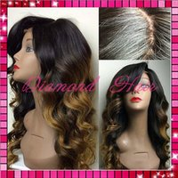 Cheap glueless full lace wigs Best ombre hair wig