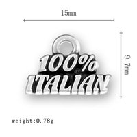alphabet italian charms - top selling a zinc alloy material national dangle alphabet ITALIAN charms for jewelry findings