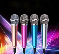 Wholesale Portable Mini karaoke Microphone Condenser Microphon Vocal Instrument Microphone microfono For iphone and Android aptop Notebook Sumsung
