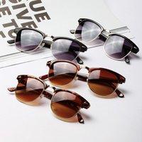 Wholesale Fashion Sun Glasses for Women Men Unisex Retro Metal Frame Sunglasses Rivet Eyeglasses Spectacles Colors Freeshipping