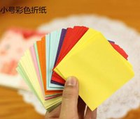 Wholesale 2016 new New Colored Origami Folding Cranes Paper Diy Small Square Origami Fabrics and Sewing Tools