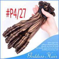 Wholesale Virgin Human Hair A Brazilian Human Hair Extensions Free Ship Remy Aunty Funmi Hair Indian Peruvian Brazilian Malaysian Virgin Hair Weaves