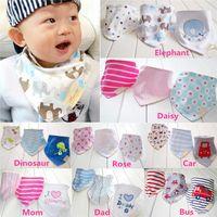 Wholesale New Arrivals set Kids Infant Newborn Baby Bandana Bibs Towel Saliva Towel Burp Cloths Cotton Cartoon Animal PX91