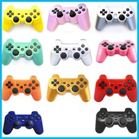 Wholesale 2016 NEW Wireless Bluetooth Game Controller Gamepad for PlayStation PS3 Game Controller Joystick for Android video games colors
