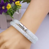 Wholesale Fashion Stardust Bracelets with magnetic clasp balls jewelry Double Stardust Bangles statement charms beaded strands infinity colors