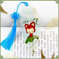 Wholesale 10 Style Cute Conan Gray Wolf Red Wolf Book Mark Fine Elegant Natural Leaf Veins Bookmark Unique Great Christmas Gift