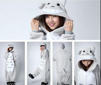 Wholesale Cartoon TOTORO plus size jumpsuits Chinchilla costume Animal Pyjamas Costume Coral Fleece Animal Sleepwear adult onesies