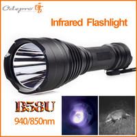 Wholesale Odepro ir flashlight nm tactical infrared flashlight hunting light night vision LED torch B58U self defense lanterna