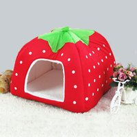 Wholesale Newly Lovely Warm Strawberry Dog Cat Pet Waterloo Nest Pet Bed cm