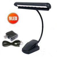 arm books - High Quality Rechargeable Table Lamp LED Clip Light Orchestra Arm Flexible Music Stand Adapter Book Reading Lamp Book Lights piano lamp