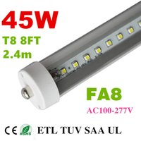 fluorescent bulbs - 8 feet led ft single pin t8 FA8 Single Pin LED Tube Lights W Lm Bulbs MM feet LED Fluorescent Tube Lamps V