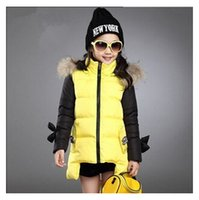 winter padded jacket - Fashion parkas bowknot clothing kids winter cotton padded clothes children outerwear coats princess girls jacket outwear wadded jacket