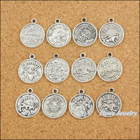 Yes, you can do any color zodiac charms - 96 Vintage Charms Zodiac Pendant Antique silver Fit Bracelets Necklace DIY Metal Jewelry Making