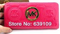 Wholesale michael korss bag Leathe wallets mk fashion bag in handbag purses women new single zipper candy color Wallet