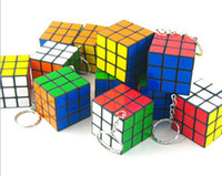 Wholesale 18 OFF on SALE New Classic Toys Keychain Rubik s cube x3x3cm Puzzle Magic Game Toy Key Keychain Adult Children Educational Toys