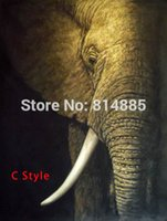 african style picture frames - African Elephant Textured American Style Handmade Modern Abstract Canvas Oil Painting Wall Art Gift No Framed Picture DX001