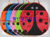 Wholesale DHL Freeshipping Kawaii Ladybug Baby Kindergarten Children PVC Outdoor Play Apron Kitchen Pinafores Aprons Play Aprons