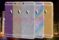 apple rainbow stickers - Luxurious Full Body Bling Diamond shiny Glitter Rainbow Front Back Sides Skin Sticker Cover For Iphone s G Plus C S for S4 S5 S6