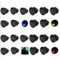 Wholesale 20PCS Led Dot Light V Car Auto Boat Round Rocker ON OFF Toggle SPST Switch Blue Green yellow red to choose