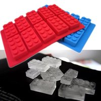 Wholesale Chocolate mould silicone Ice cube Trays mold legoes ice block buick building shape Bar Party frozen Drink for Lego lovers