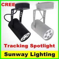Wholesale Black White LED track light W W W W W W W lighting Natural Cool Warm White Led Ceiling Spot Lights AC V